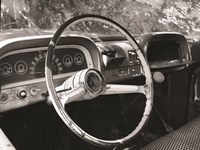 Chevy Steering Wheel Framed Print