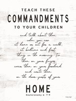 Teach These Commandments Fine Art Print
