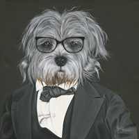 Dog in Suit Fine Art Print