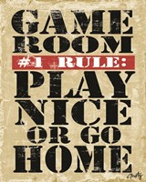 Game Room #1 Rule Fine Art Print