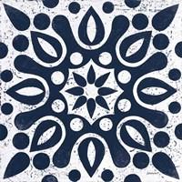 Blue and White Tile IV Fine Art Print