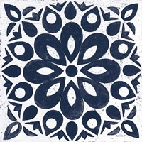 Blue and White Tile III Fine Art Print