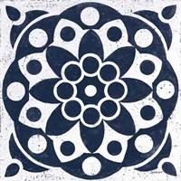 Blue and White Tile II Fine Art Print
