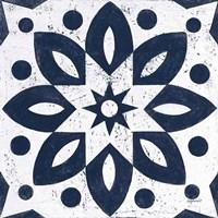 Blue and White Tile I Fine Art Print