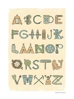 Camping Alphabet Fine Art Print