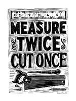 Measure Twice II Fine Art Print