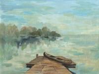 Lakeside Retreat II no Wood Fine Art Print
