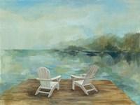 Lakeside Retreat I no Wood Fine Art Print