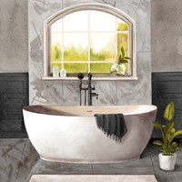 Marble Bath I black & white Fine Art Print