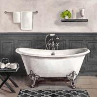 Serene Bath II black & white Fine Art Print