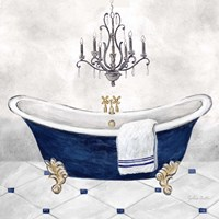Navy Blue Bath II Fine Art Print