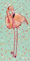 Flamingo Panel I Fine Art Print