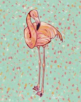 Flamingo Portrait I Fine Art Print