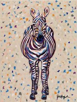 Fruit Stripe Zebra Fine Art Print
