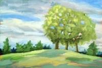 Green Horizon Landscape Fine Art Print