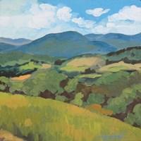 Green Hills Square Fine Art Print
