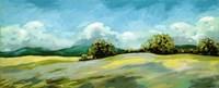 Lavender Breeze Panel Green Fine Art Print