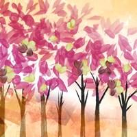 Pink Trees Framed Print