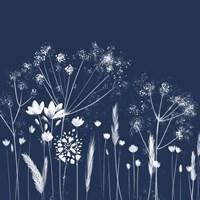 Indigo Flowers I Fine Art Print