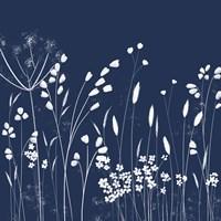 Indigo Flowers II Fine Art Print