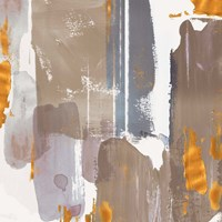 Icescape Abstract Grey Gold I Fine Art Print
