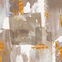 Icescape Abstract Grey Gold II Fine Art Print