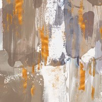 Icescape Abstract Grey Gold III Fine Art Print