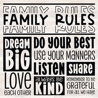 Family Rules I Fine Art Print