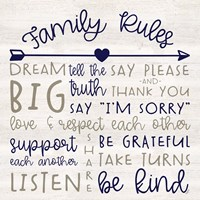 Family Rules III Farmhouse Fine Art Print