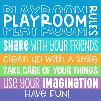Playroom Rules I Framed Print