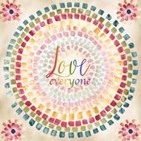 Mosaic Rainbow Round II Fine Art Print