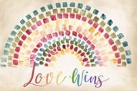Mosaic Rainbow landscape Fine Art Print