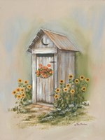 Country Outhouse I Fine Art Print