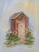 Country Outhouse II Fine Art Print