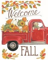 Fall Truck & Lab Fine Art Print