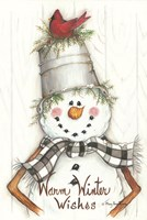 Country Snowman Fine Art Print