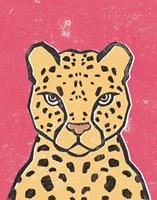 Jungle Cat Hot Pink Fine Art Print