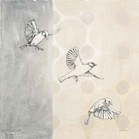 Sparrows Alighting Fine Art Print