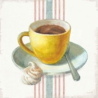 Wake Me Up Coffee IV with Stripes Fine Art Print