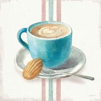 Wake Me Up Coffee I with Stripes Fine Art Print