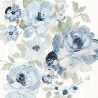 Driftwood Garden II Blue Crop Fine Art Print