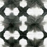 Aquarelle Black and White Square XIII Fine Art Print