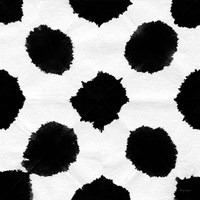 Aquarelle Black and White Square IX Fine Art Print