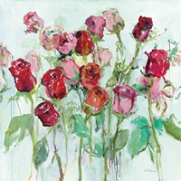 Wild Roses Bright Framed Print