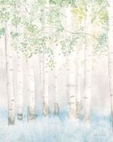 Soft Birches II Fine Art Print