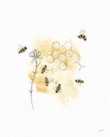 Bees and Botanicals VI Fine Art Print