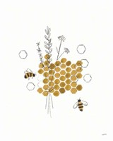 Bees and Botanicals IV Fine Art Print