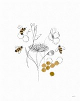 Bees and Botanicals V Fine Art Print