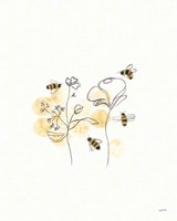Bees and Botanicals III Fine Art Print