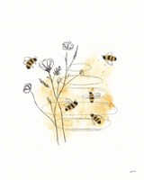 Bees and Botanicals I Fine Art Print